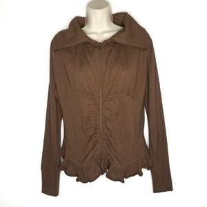 Matilda Jane Stealth Jacket Brown Full Zip S